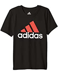 (アディダス) adidas キッズTシャツ Clima Perfomance Logo Tee (Toddler/Little Kids) Caviar Black 7X Little Kids (7歳) One Size