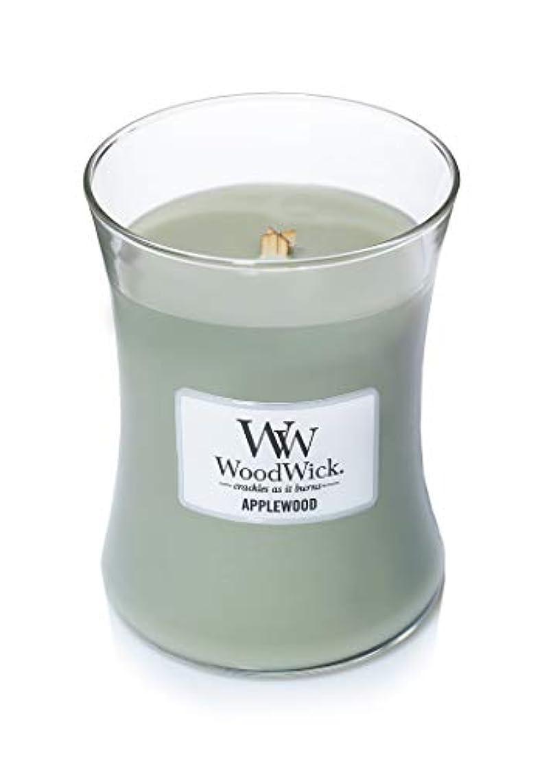 資本主義リンケージ大統領(300ml, Green) - Woodwick Jar Candle (Medium) (Applewood)