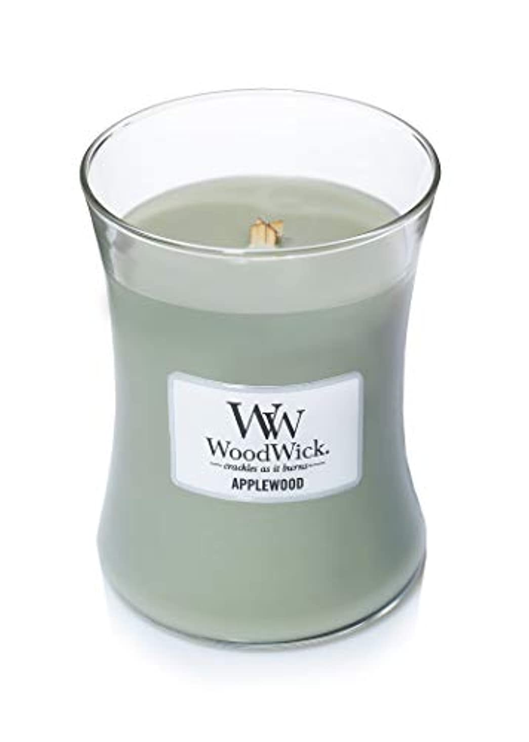 交通渋滞ダイエット唇(300ml, Green) - Woodwick Jar Candle (Medium) (Applewood)