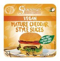 Bute Island スライスシーズ(植物性チーズ) 熟成チェダースタイル(冷蔵) オーサワジャパン 200g(約10枚)×10個