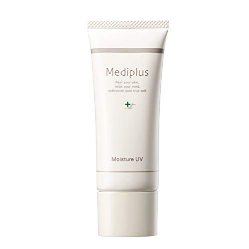 【Mediplus+】 メディプラス 日焼け止め モイスチャーUV SPF40 PA+++ 40g [ ノンケミカル ウォータープルーフ ]