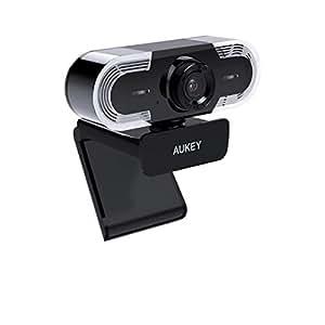 ウェブカメラ AUKEY ウェブカム 2K画質 320万画素 マイク内蔵 360度回転可能 自動低照度調整 ライブカメラ skypeなどのビデオチャット用PCカメラ Windows、Mac OSとAndroidに対応 2年保証 PC-LM1A