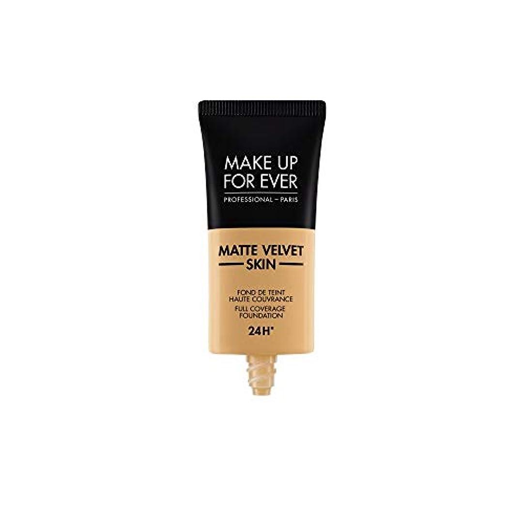 パキスタン残り興味メイクアップフォーエバー Matte Velvet Skin Full Coverage Foundation - # Y405 (Golden Honey) 30ml/1oz並行輸入品