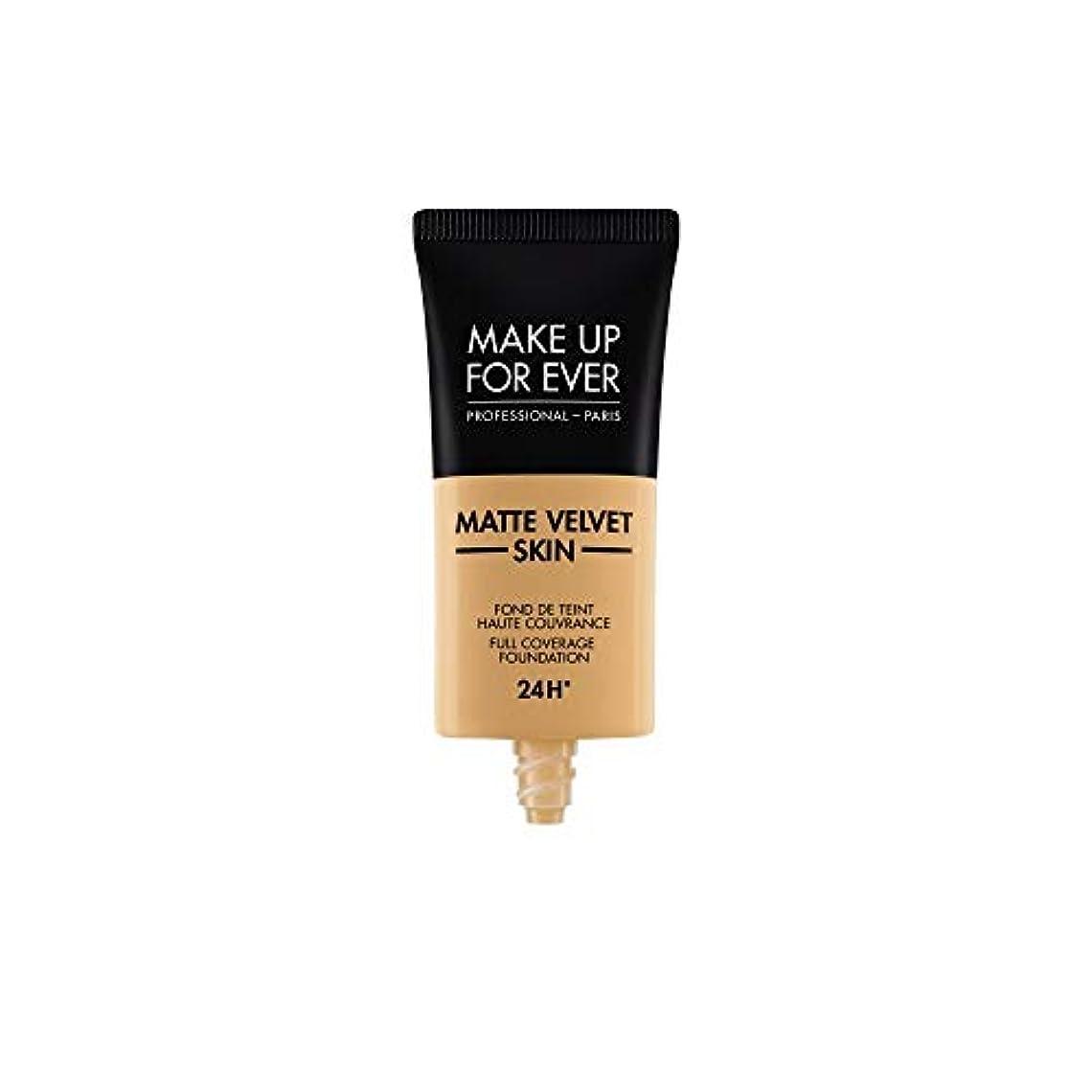 大使館含める魅了するメイクアップフォーエバー Matte Velvet Skin Full Coverage Foundation - # Y405 (Golden Honey) 30ml/1oz並行輸入品