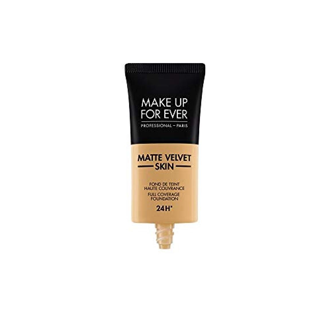 内なる忘れられないサンプルメイクアップフォーエバー Matte Velvet Skin Full Coverage Foundation - # Y405 (Golden Honey) 30ml/1oz並行輸入品