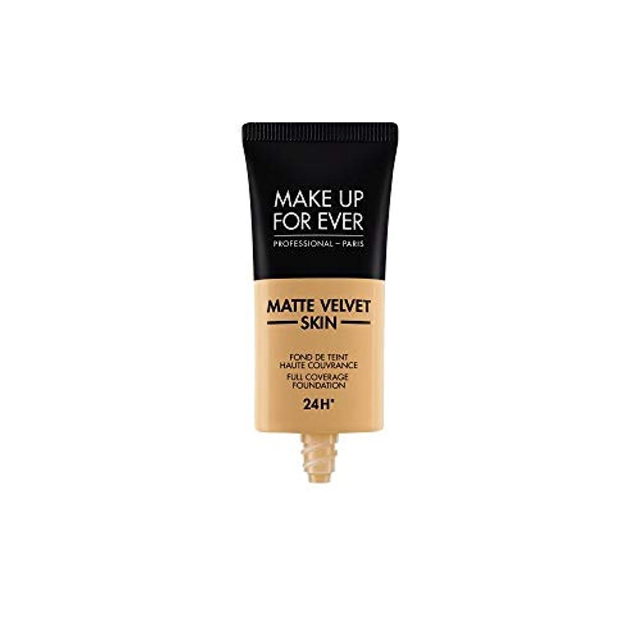 パラメータ感謝するカナダメイクアップフォーエバー Matte Velvet Skin Full Coverage Foundation - # Y405 (Golden Honey) 30ml/1oz並行輸入品