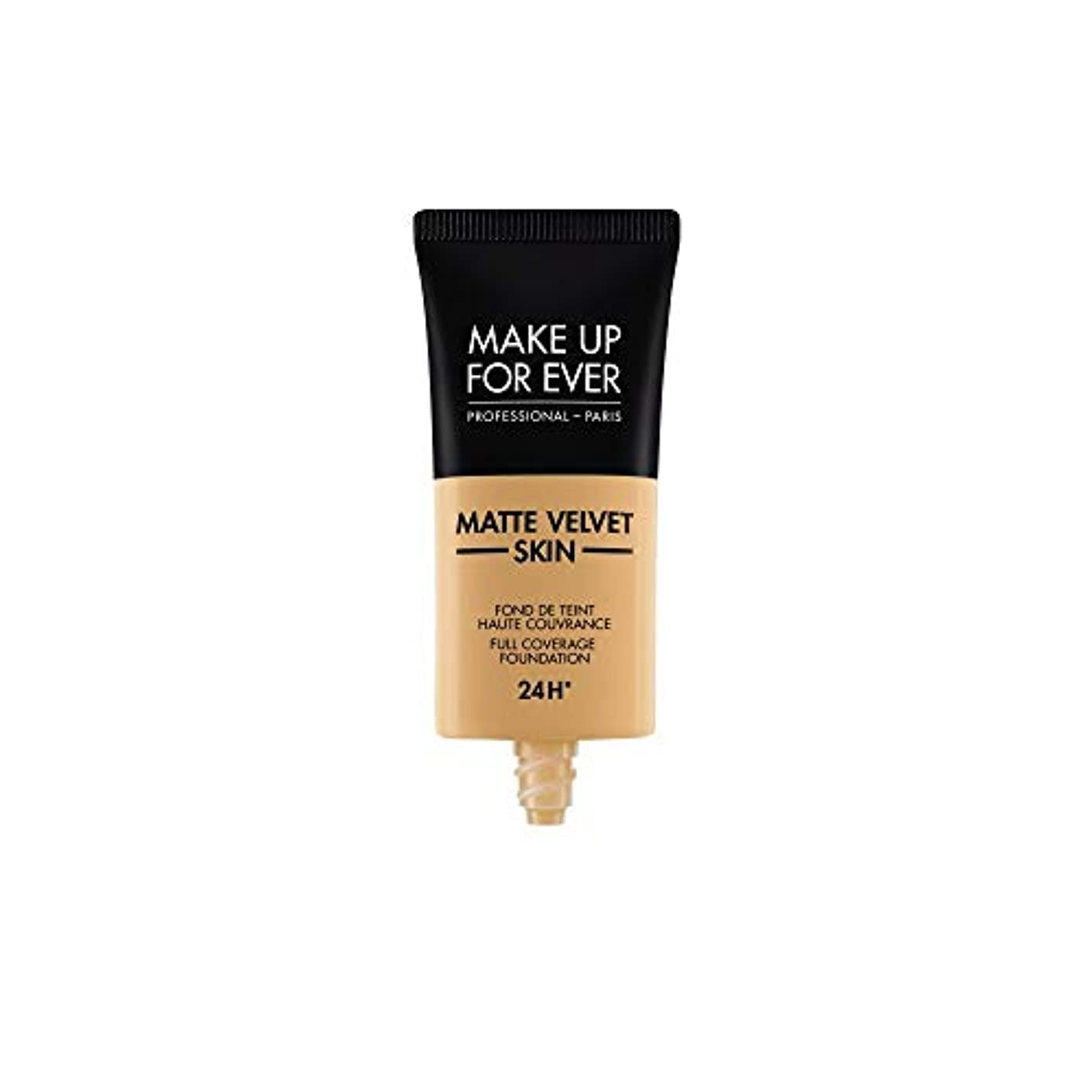 ホイールシェーバー適合するメイクアップフォーエバー Matte Velvet Skin Full Coverage Foundation - # Y405 (Golden Honey) 30ml/1oz並行輸入品
