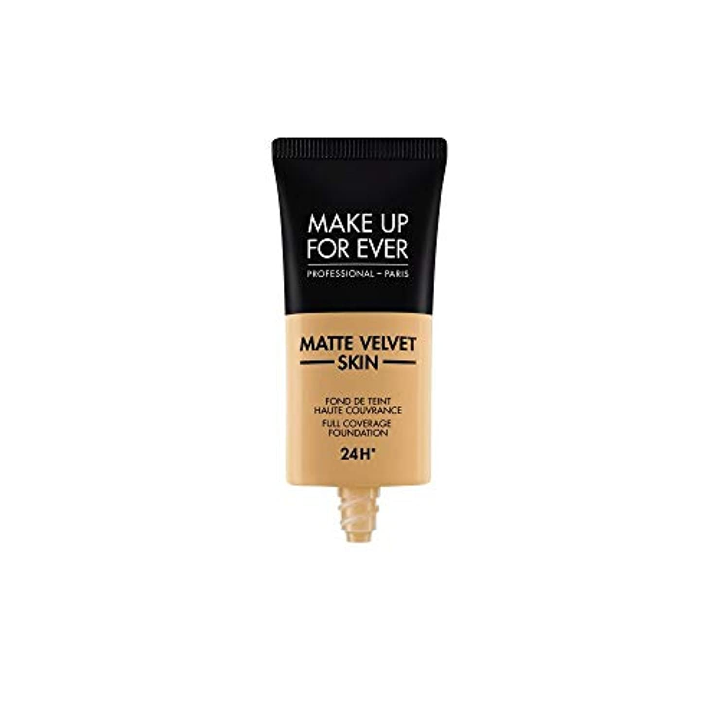 メイクアップフォーエバー Matte Velvet Skin Full Coverage Foundation - # Y405 (Golden Honey) 30ml/1oz並行輸入品