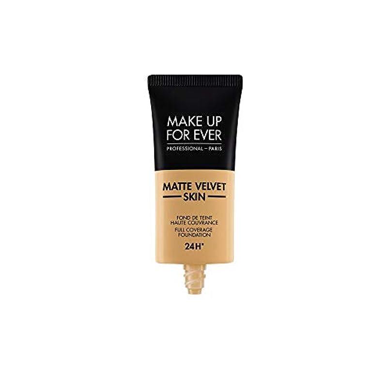 入場料時真似るメイクアップフォーエバー Matte Velvet Skin Full Coverage Foundation - # Y405 (Golden Honey) 30ml/1oz並行輸入品