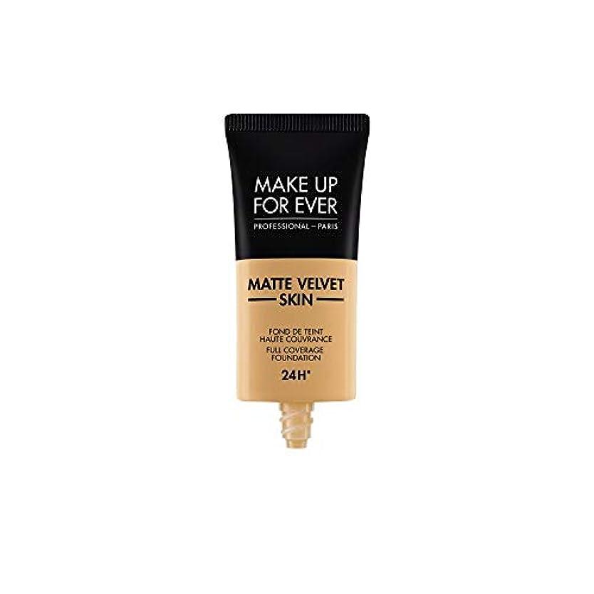 任命する転用抑制メイクアップフォーエバー Matte Velvet Skin Full Coverage Foundation - # Y405 (Golden Honey) 30ml/1oz並行輸入品