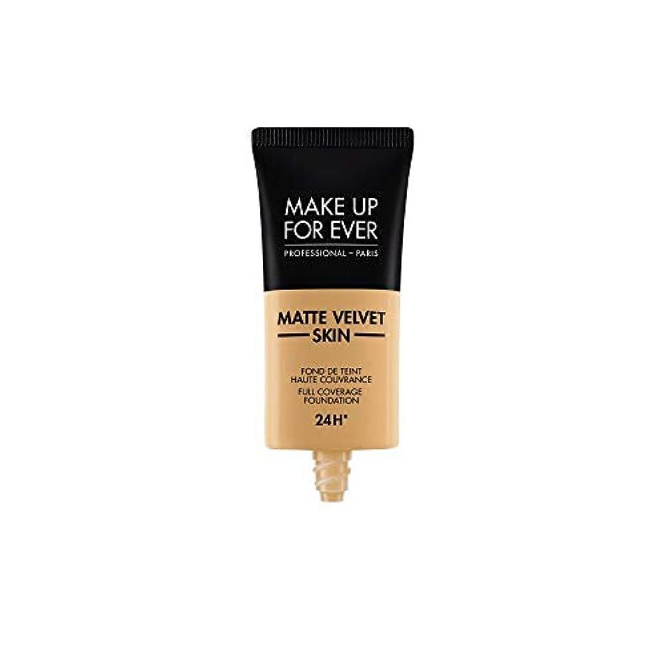 治療幹翻訳者メイクアップフォーエバー Matte Velvet Skin Full Coverage Foundation - # Y405 (Golden Honey) 30ml/1oz並行輸入品