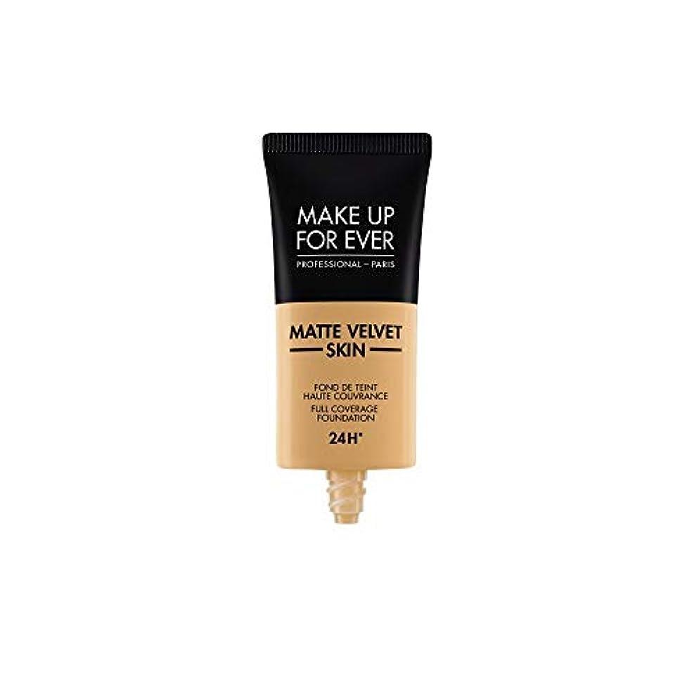 生息地ジャンクション脇にメイクアップフォーエバー Matte Velvet Skin Full Coverage Foundation - # Y405 (Golden Honey) 30ml/1oz並行輸入品