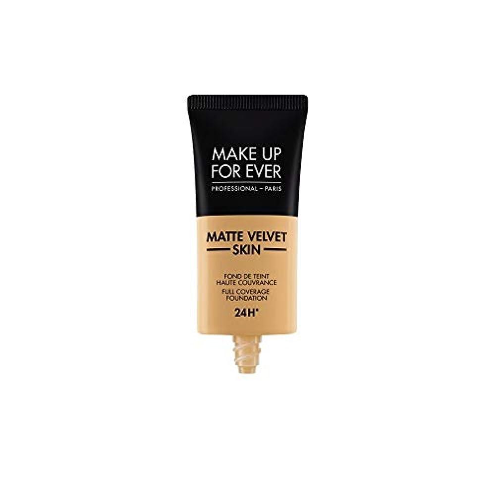 救援ヒット差し控えるメイクアップフォーエバー Matte Velvet Skin Full Coverage Foundation - # Y405 (Golden Honey) 30ml/1oz並行輸入品