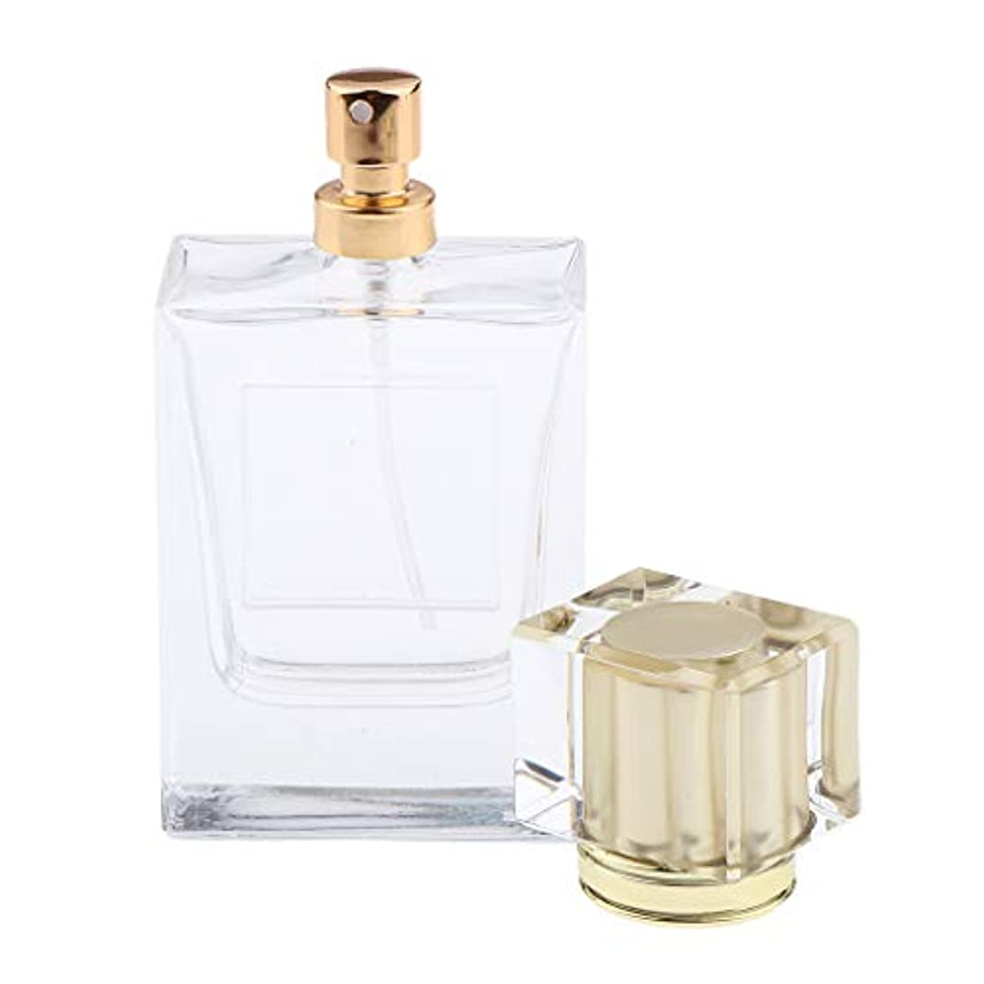 品揃えジレンマ流星香水瓶 化粧ボトル 透明ガラス ポンプスプレーボトル 手作りコスメ 4色選べ - ゴールド