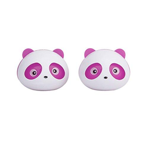 SODIAL(R) 2本 空気清浄機パンダ カーパフューム 2つのクリップ付き(ピンク)