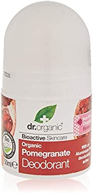 Dr Organic Pomegranate Deodorant, Pomegranate, 50 milliliters
