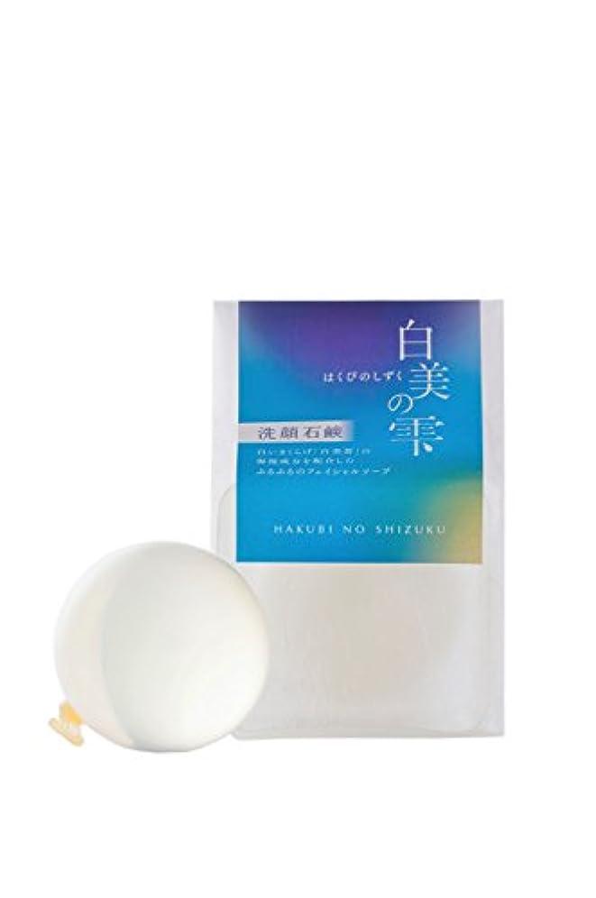なんでも動揺させる抽象グレイスファーム 白美の雫 洗顔石鹸 100g