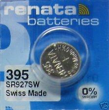 renata レナータ 395 1個 酸化銀ボタン電池(SR927SW)※スウォッチグループ/スイス製【並行輸入品】