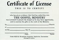 証明書のライセンスminister-billfoldサイズ( Pkg 10) (パッケージの10)