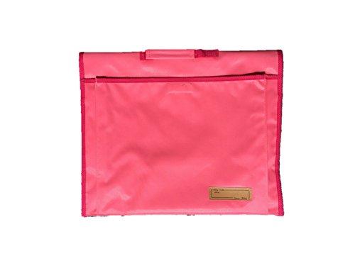 背もたれ式防災頭巾用ポケット付カバー ピンク 約34×42c...