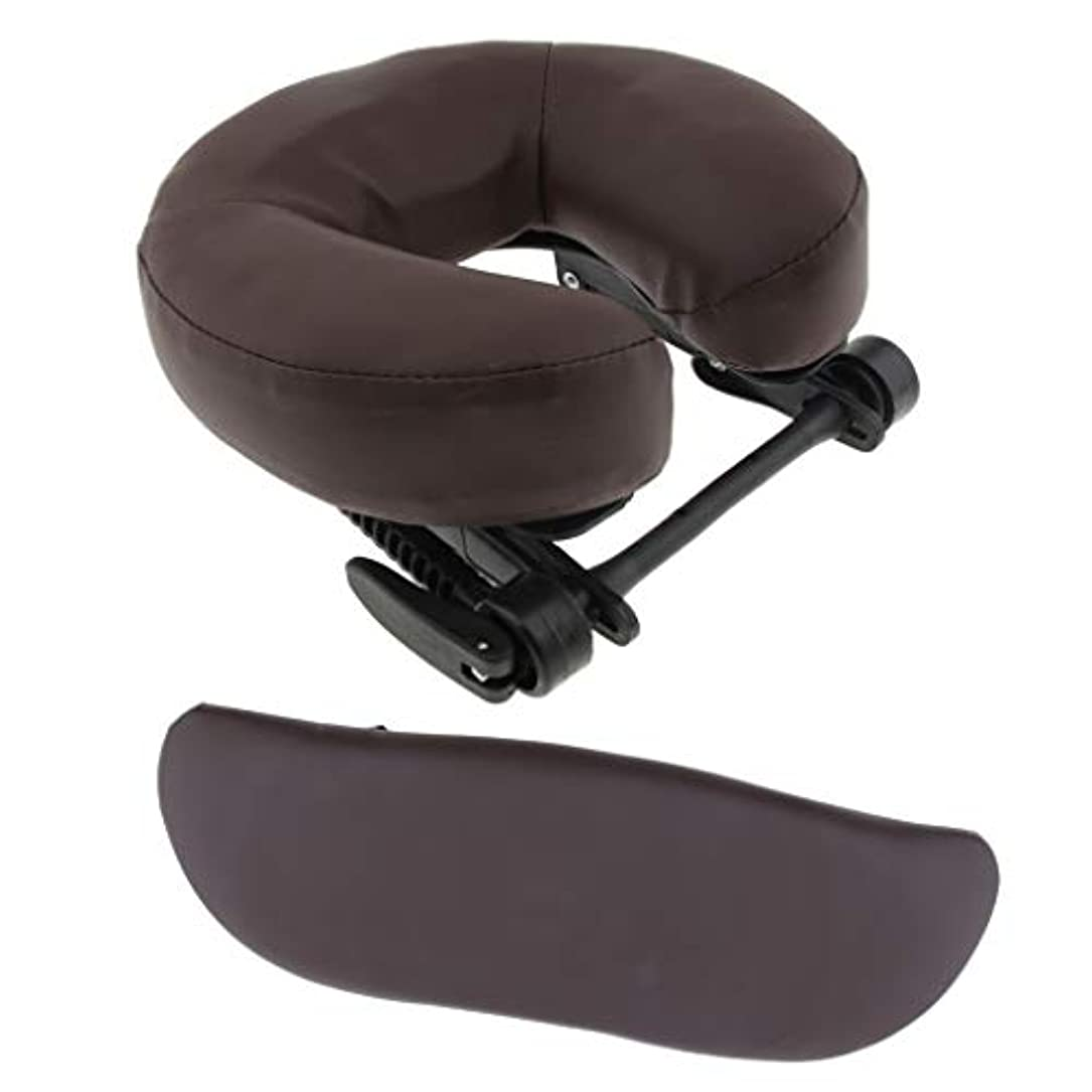マーチャンダイザー麻痺させる幻想マッサージテーブルベッド用 クッション アームサポート クッション サポートピロー 3色選べる - 褐色