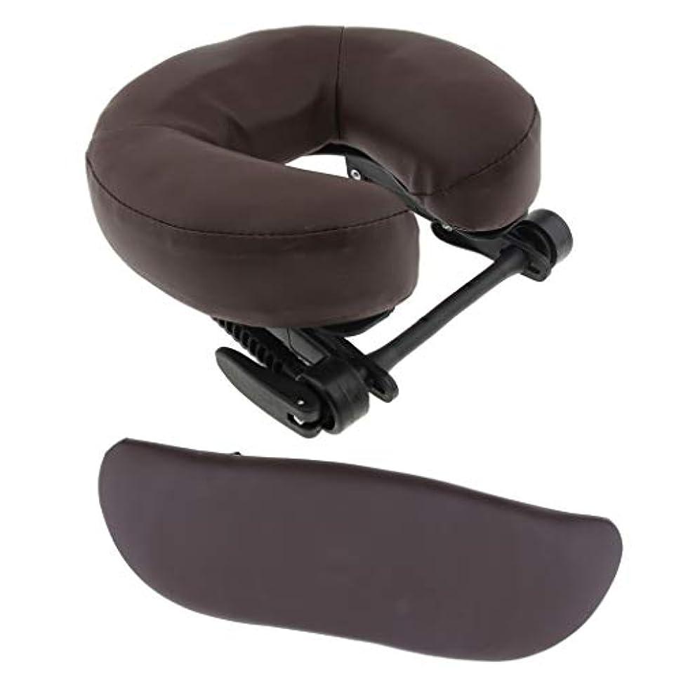 束サスティーン関係するHellery ヘッドレスト ポータブル&調節可能&フェイスクレードルレストクッション 3枚組 マッサージベッド用 - 褐色