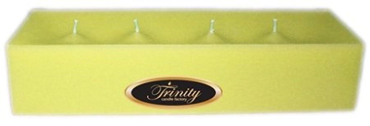 フラッシュのように素早く符号一口Trinity Candle工場 – Gardenia – Pillar Candle – 12 x 4 x 2 – ログ