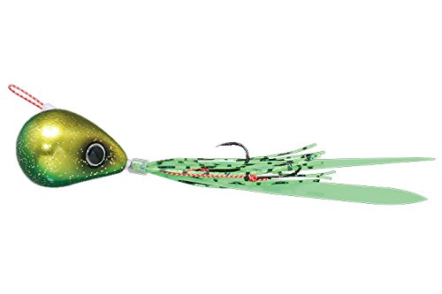 JACKALL(ジャッカル) ルアー 爆流鉛式ビンビン玉スライド100g ラメグリキン/蛍光グリーン