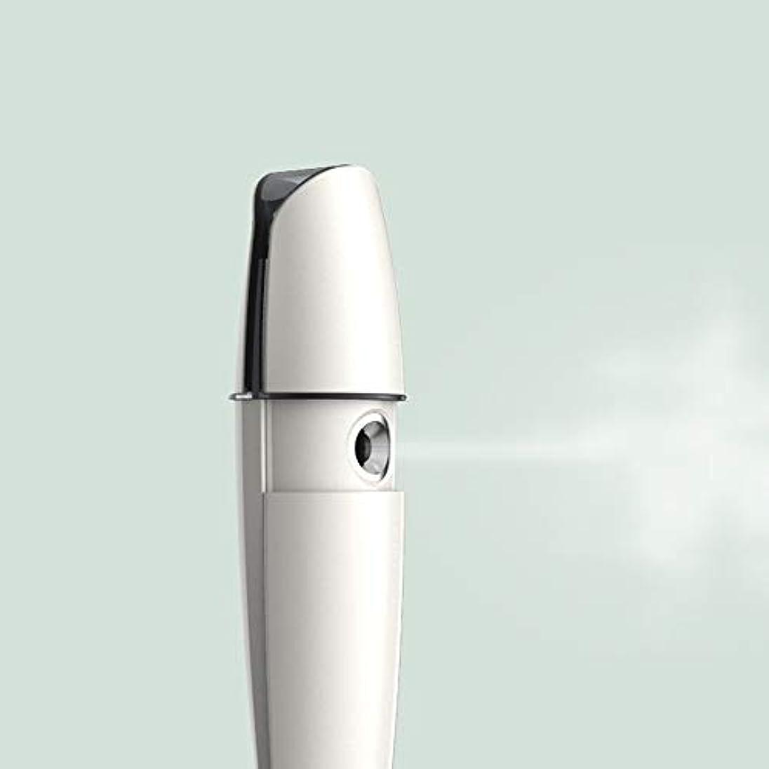 放射能安価な近代化するZXF 充電式コールドスプレー機家庭用スチームフェイス美容機器ナノスプレーフェイス加湿水道メーターホワイトABS素材 滑らかである