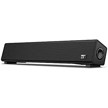 TaoTronics PC スピーカー Bluetooth 10W出力 小型 サウンドバー テレビ TV パソコンスピーカー デュアルパッシブラジエーター 壁掛け可 Bluetooth接続対応 電源アダプター接続【12ヶ月+18ヶ月間国内安心保証】 TT-SK025