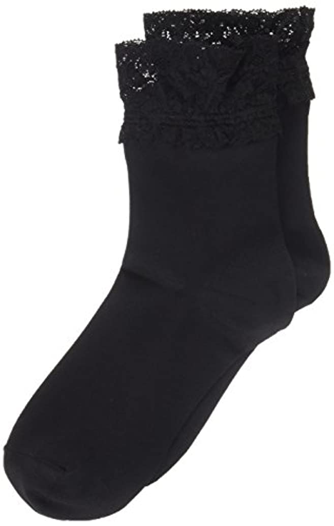 AR0213 ミセススニーカーソックス(婦人靴下) ゆったりはきやすい 22-24cm ブラック