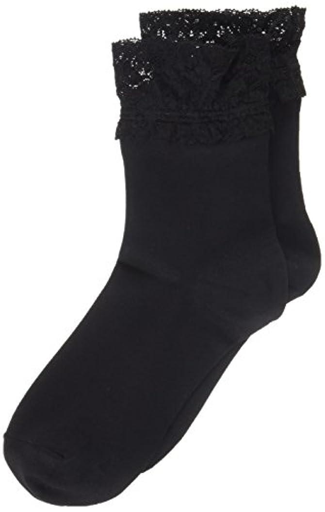 現実パスしたいAR0213 ミセススニーカーソックス(婦人靴下) ゆったりはきやすい 22-24cm ブラック