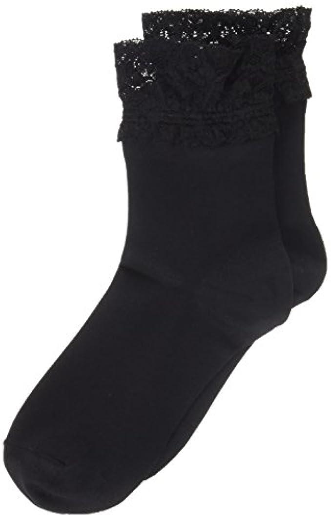 解放裏切り契約AR0213 ミセススニーカーソックス(婦人靴下) ゆったりはきやすい 22-24cm ブラック