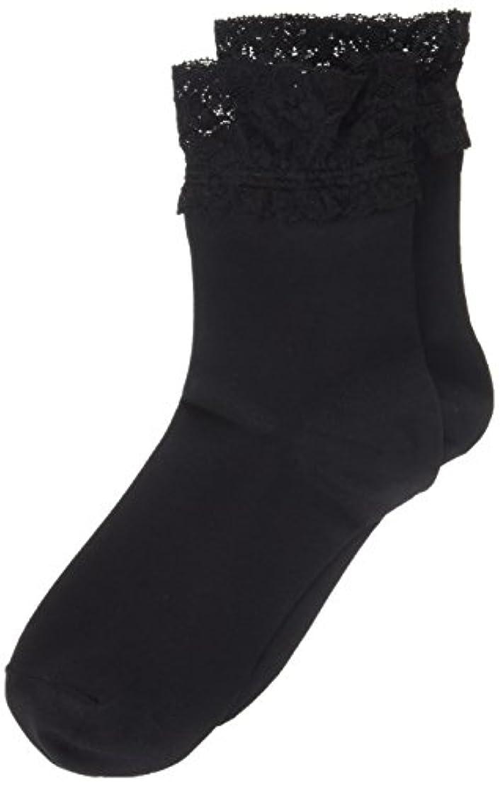 傾向フック浴AR0213 ミセススニーカーソックス(婦人靴下) ゆったりはきやすい 22-24cm ブラック