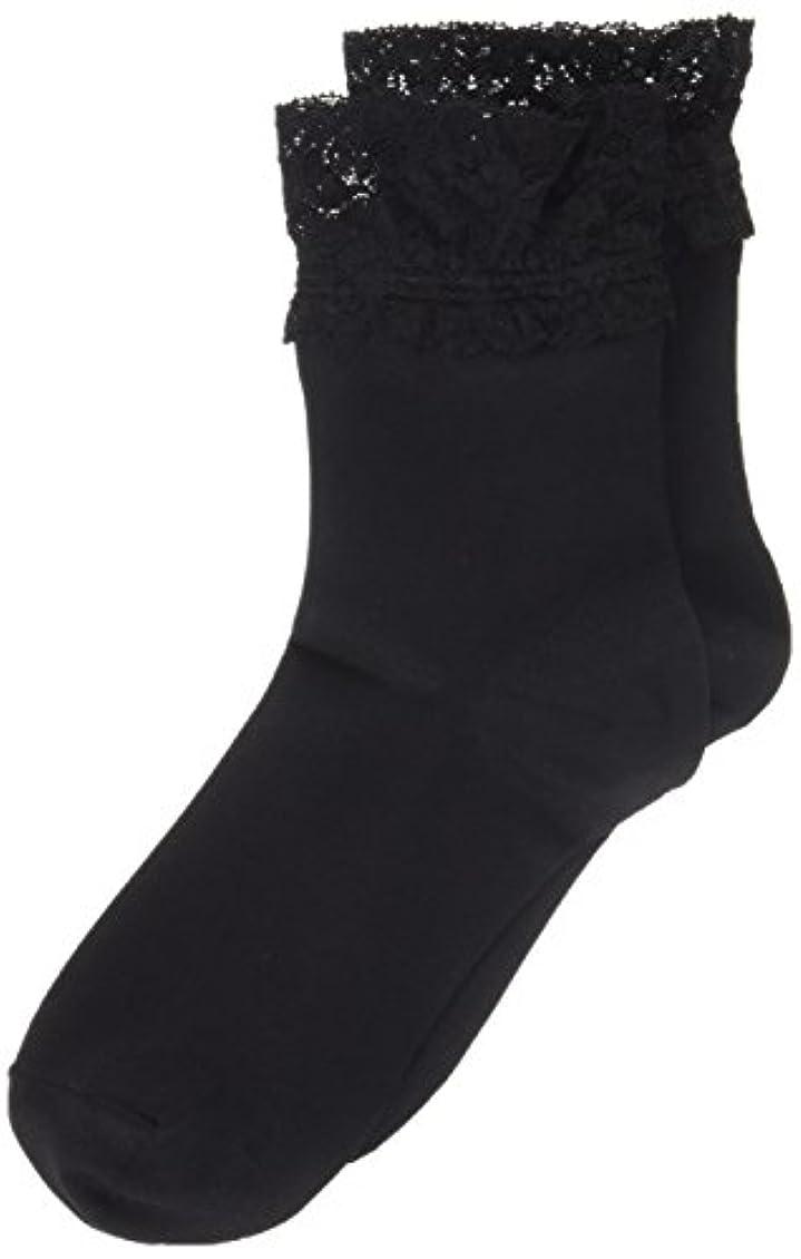 願う入場アレイAR0213 ミセススニーカーソックス(婦人靴下) ゆったりはきやすい 22-24cm ブラック