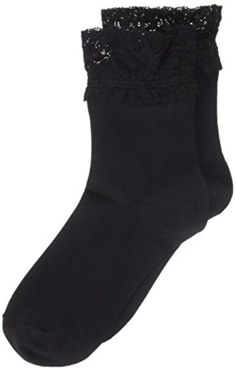 注意起業家プラットフォームAR0213 ミセススニーカーソックス(婦人靴下) ゆったりはきやすい 22-24cm ブラック
