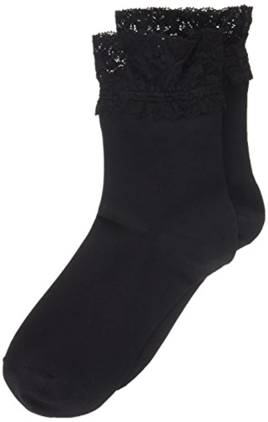 教授哺乳類グループAR0213 ミセススニーカーソックス(婦人靴下) ゆったりはきやすい 22-24cm ブラック