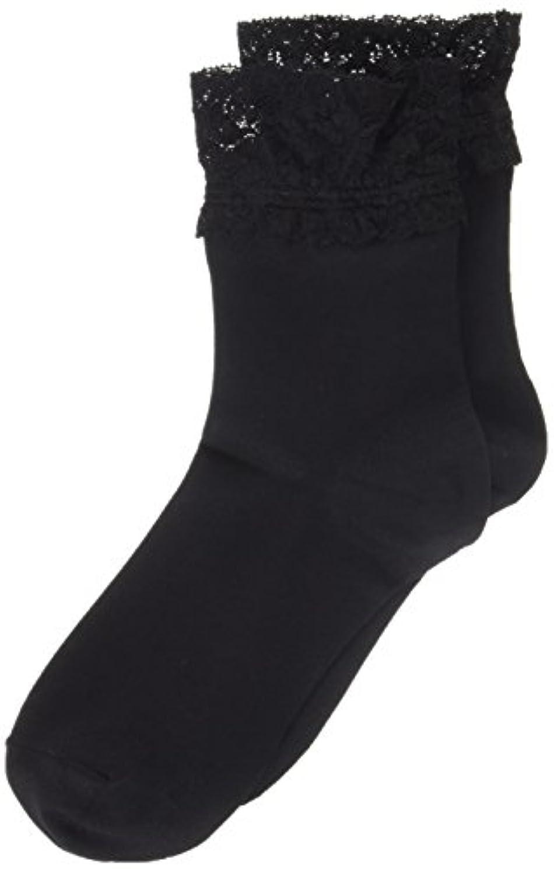 ペンペニーばかげたAR0213 ミセススニーカーソックス(婦人靴下) ゆったりはきやすい 22-24cm ブラック