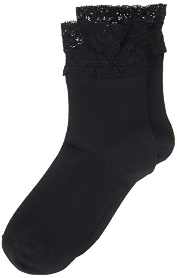 過度に建てる見出しAR0213 ミセススニーカーソックス(婦人靴下) ゆったりはきやすい 22-24cm ブラック