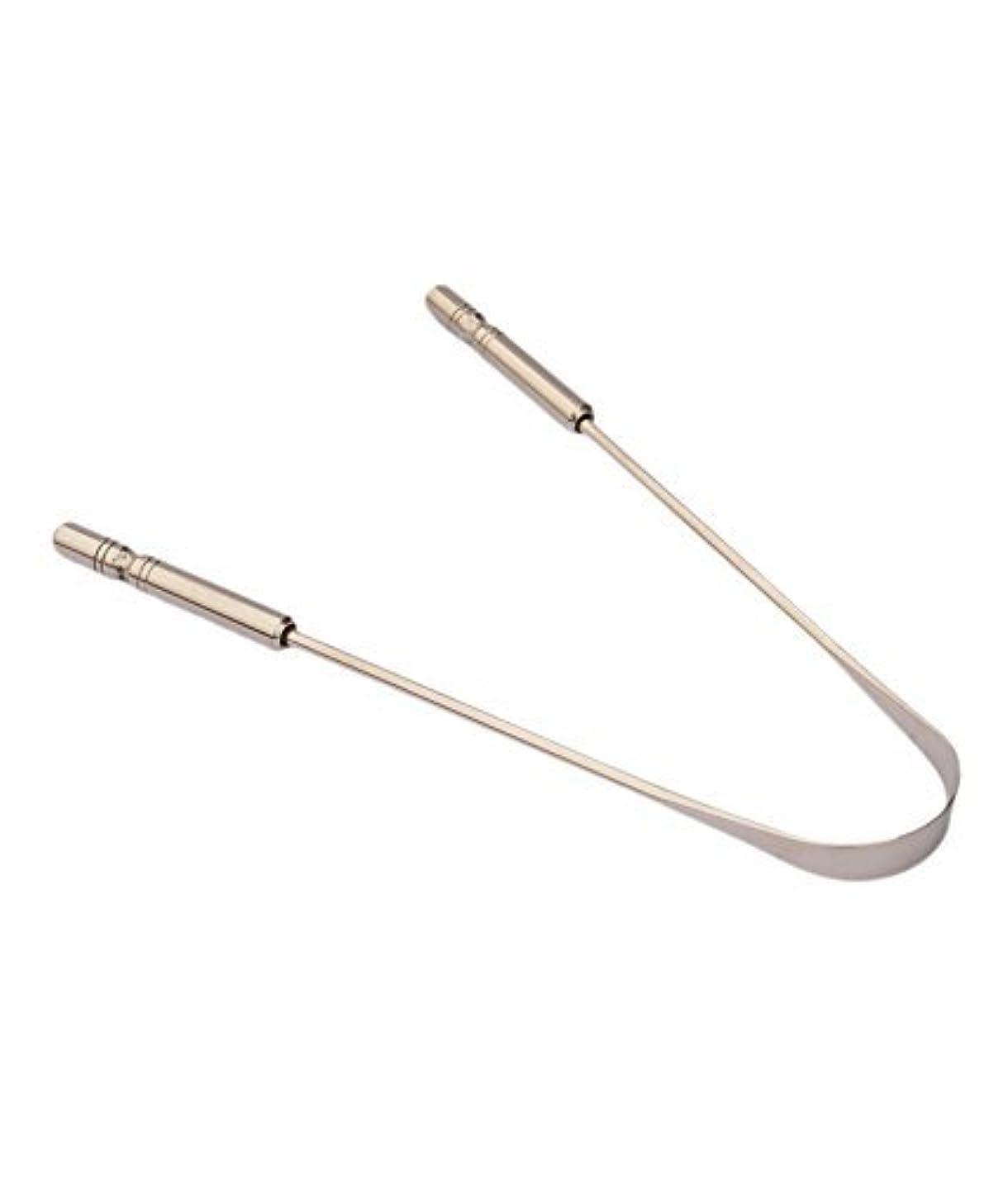 市場考えた不信2 Pcs Absolute Ayurvedic Tongue Cleaner (Stainless Steel) for Men and Women Oral Care Recommended By Professional...