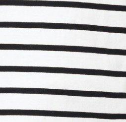 Doublefocus シンプル&ボーダーTシャツ メンズ ティーシャツ シンプル 人気 トレンド LL 半袖 ブラック × ホワイト ボーダー