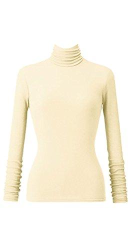 [해외]천사의면 시폰 여성 넥 긴팔/Angel cotton chiffon ladies high neck long sleeve