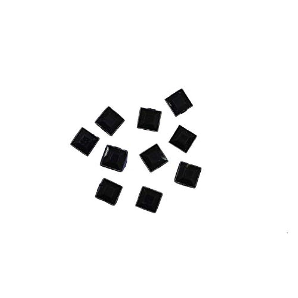 真珠のような家主分析的スクエアストーン 30粒 / 色々使える四角いアクリルストーン (ブラック2.5mm)