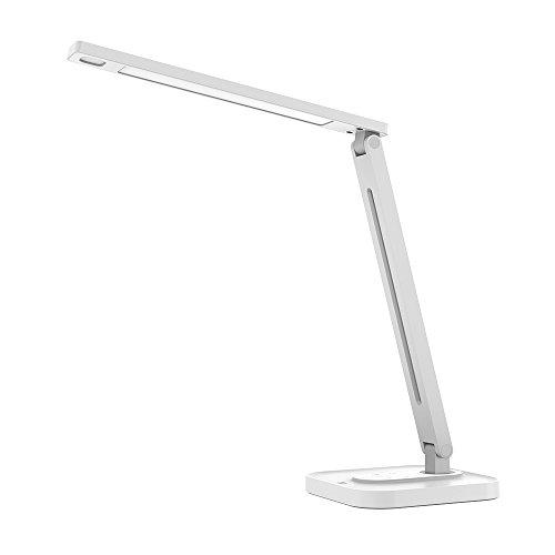 TaoTronics LED デスクライト 25種類の光り設定 5種類の色温度 5段階の明るさ 目に優しい 電気スタンド メモリー機能 180°調節可 USBポート付 TT-DL029 (銀)