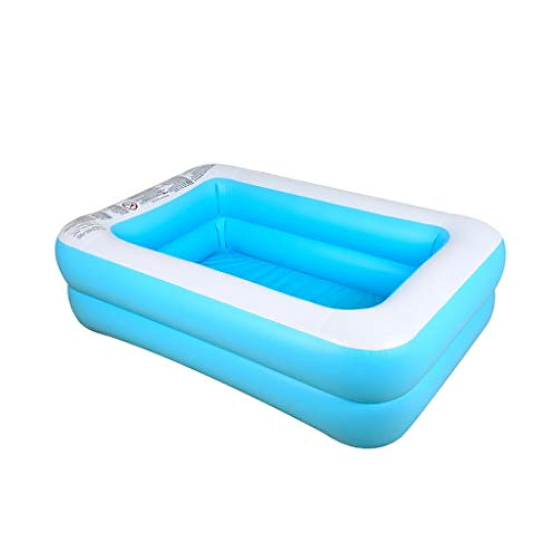 プール スイミングプールインフレータブル家族ホームプールパドリングプール用ポータブル屋外屋内風呂用3歳155×180×45センチ 庭 プール
