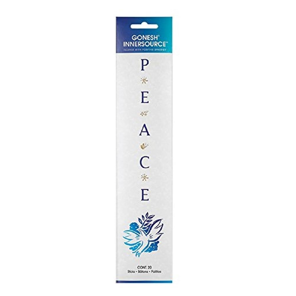 帳面気づかない蒸し器Gonesh Incense Sticks Innerソース平和、20ピース