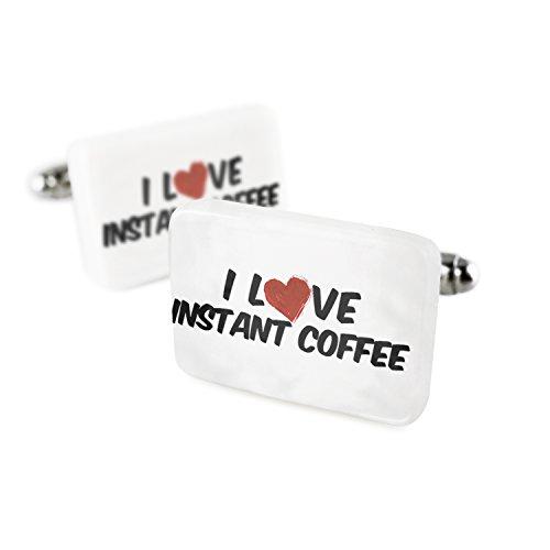 カフスボタンI Loveインスタントコーヒー磁器セラミックN...