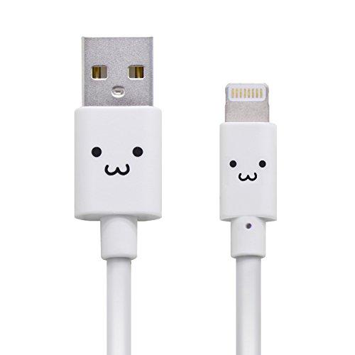 ライトニングケーブル【Apple認証】かわいい顔つき