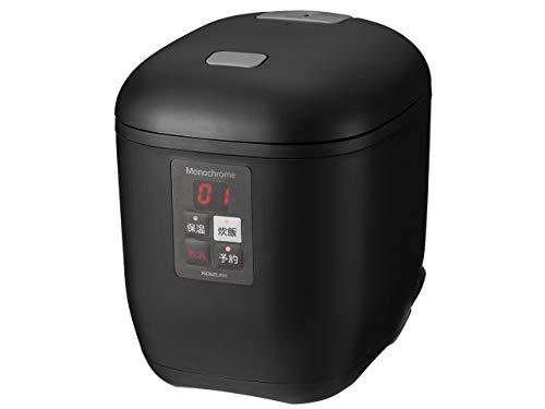 モノクローム 小型 炊飯器 ライスクッカーミニ ブラック (0.5~1.5合) KSC-1550/K