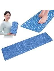 健康足ふみデコマット/足ツボマット 【幅32cm×長さ120cm】 洗える 軽量 コンパクト収納